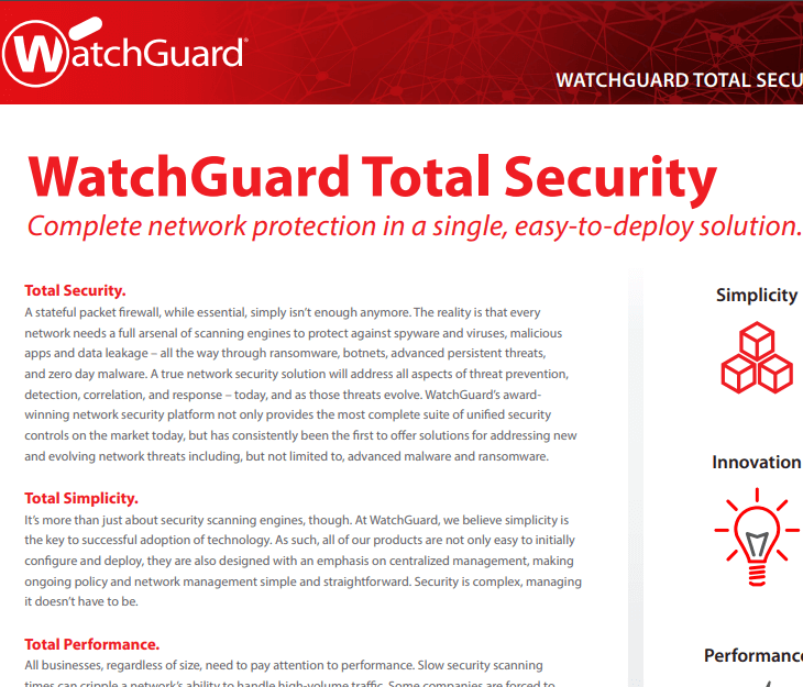WatchGuard Total Security UTM Subscriptions