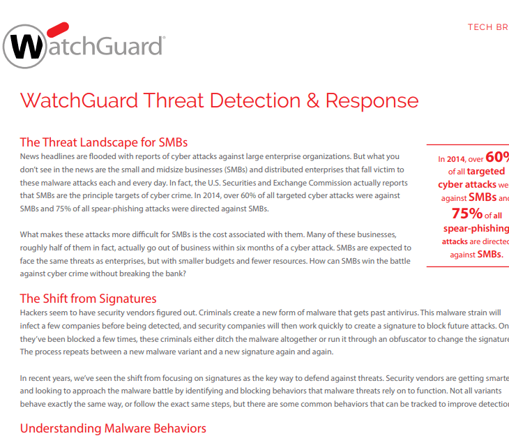 Watchguard Threat Detection and Response