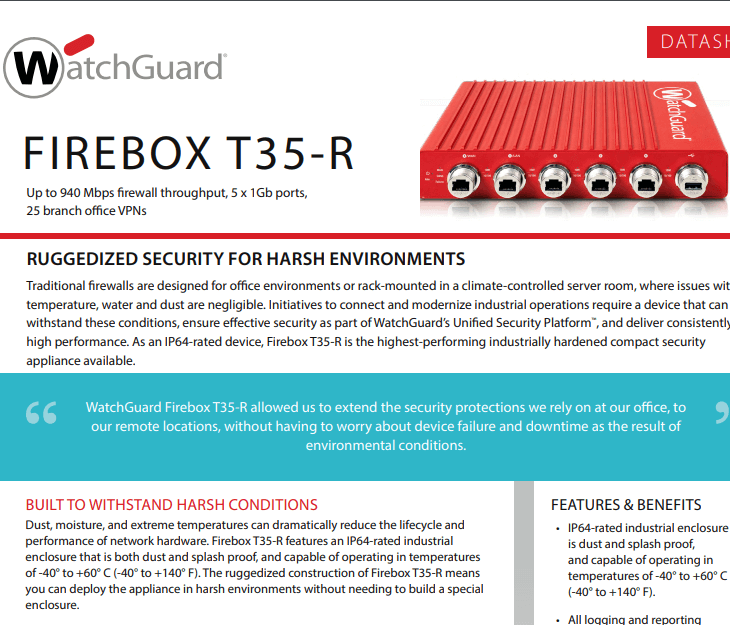 WatchGuard  Firebox T35-R