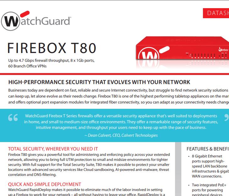 WatchGuard Firebox T80