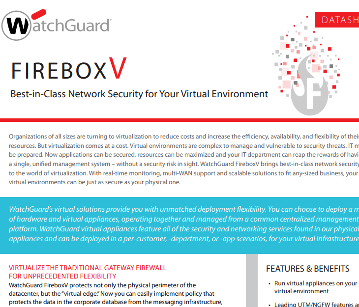 WatchGuard FireboxV Datasheet