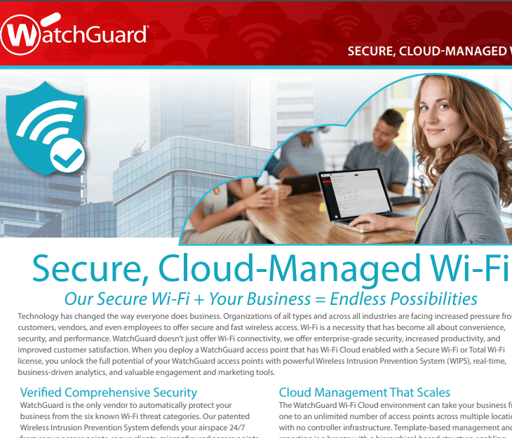 WatchGuard Secure Cloud Wi-Fi