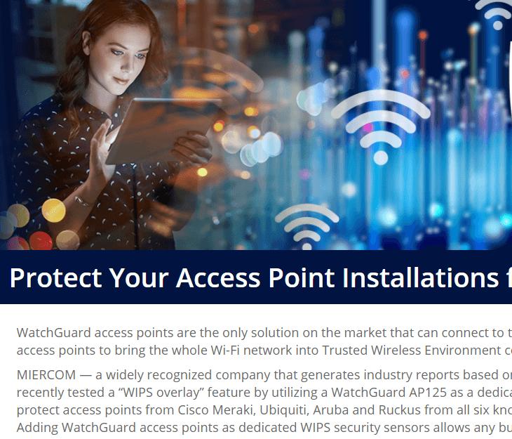 WatchGuard AP225W Wi-Fi WIPS Report